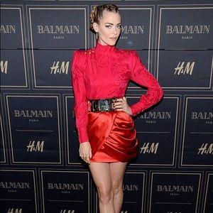 Balmain x H&M Red Tulip Skirt